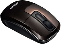 ASUS WT400 RF Wireless Ottico 1000DPI Ambidestro Nero, Marrone mouse