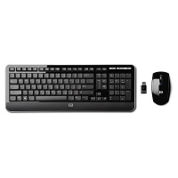 HP 2.4GHz Wireless Multi-media Keyboard and Mouse RF Wireless Nero tastiera