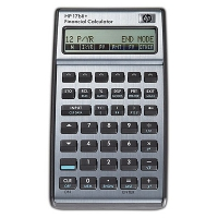 HP 17bII+ Financial Business Calculator Tasca Calcolatrice finanziaria Nero