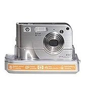 HP Photosmart R707 digital camera with camera dock
