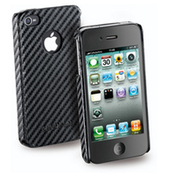 Cellularline CARBON for IPHONE 4S/4 Cover Nero