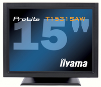"iiyama ProLite T1531SAW-B1 15"" 1024 x 768Pixel Da tavolo Nero monitor touch screen"