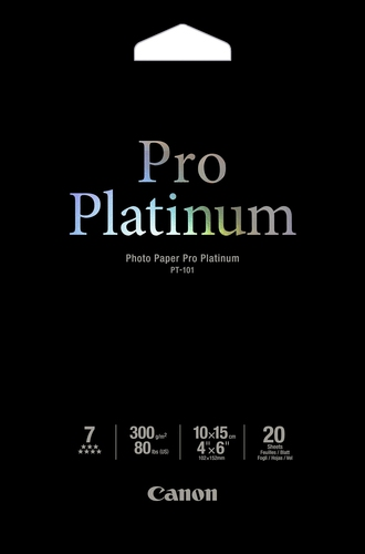 Canon PT-101 - Pro Platinum Photo 10x15cm, 20 sheets photo paper