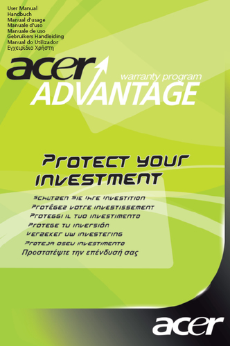 Acer SV.WNBAP.A11 warranty/support extension