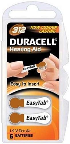 Duracell DA312 Zinc-Air 1.4V non-rechargeable battery