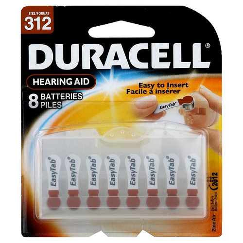 Duracell DA312B8 Zinc-Air 1.4V non-rechargeable battery