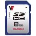 V7 SD CARD 8GB SDHC CL4        MEM - RETAIL                           IN
