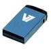 V7 USB NANO STICK 4GB BLUE     MEM - USB2.0 23X12X4MM RETAIL          IN