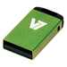 V7 USB NANO STICK 4GB GREEN    MEM - USB2.0 23X12X4MM RETAIL